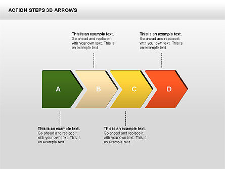 Stage Diagrams: Action Steps 3D Arrows #00400