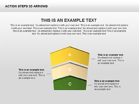 Action Steps 3D Arrows, Slide 4, 00400, Stage Diagrams — PoweredTemplate.com