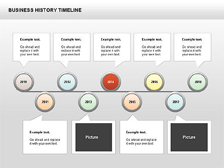 Timelines & Calendars: Business History Timeline Diagrams #00403