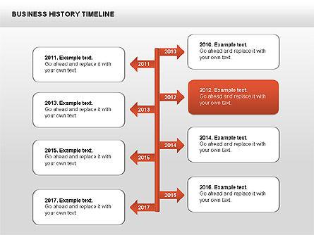 Business History Timeline Diagrams, Slide 11, 00403, Timelines & Calendars — PoweredTemplate.com