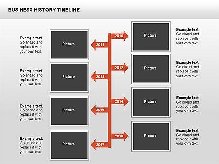 Business History Timeline Diagrams, Slide 12, 00403, Timelines & Calendars — PoweredTemplate.com