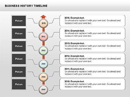 Business History Timeline Diagrams, Slide 13, 00403, Timelines & Calendars — PoweredTemplate.com