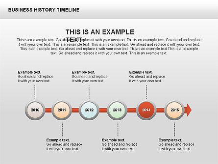 Business History Timeline Diagrams, Slide 14, 00403, Timelines & Calendars — PoweredTemplate.com