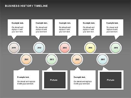 Business History Timeline Diagrams, Slide 15, 00403, Timelines & Calendars — PoweredTemplate.com