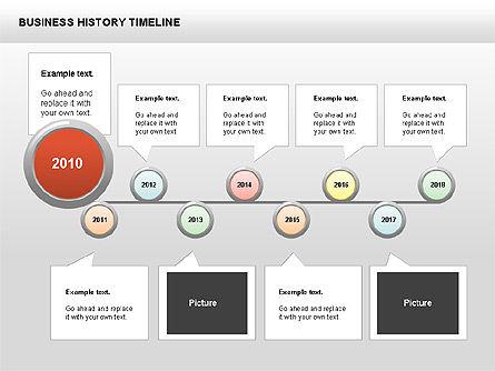 Business History Timeline Diagrams, Slide 2, 00403, Timelines & Calendars — PoweredTemplate.com