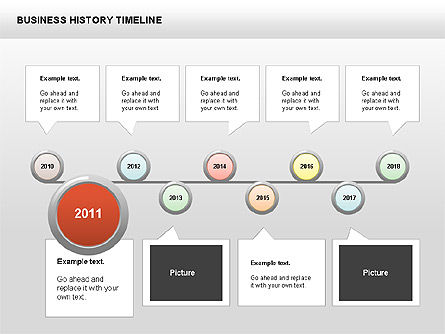 Business History Timeline Diagrams Slide 3