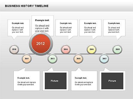 Business History Timeline Diagrams, Slide 4, 00403, Timelines & Calendars — PoweredTemplate.com