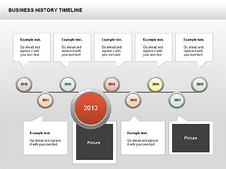 Business History Timeline Diagrams, Slide 5, 00403, Timelines & Calendars — PoweredTemplate.com