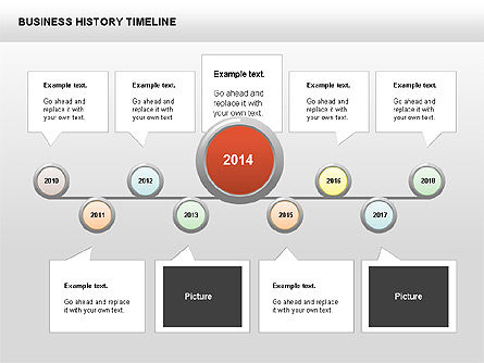 Business History Timeline Diagrams, Slide 6, 00403, Timelines & Calendars — PoweredTemplate.com