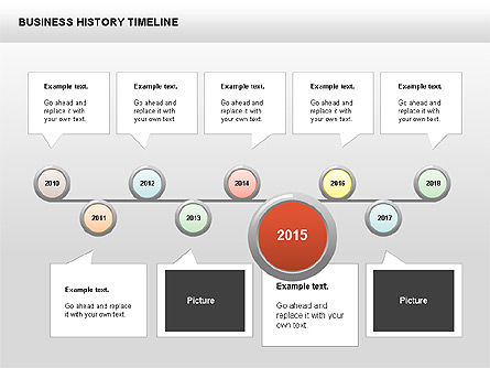 Business History Timeline Diagrams, Slide 7, 00403, Timelines & Calendars — PoweredTemplate.com
