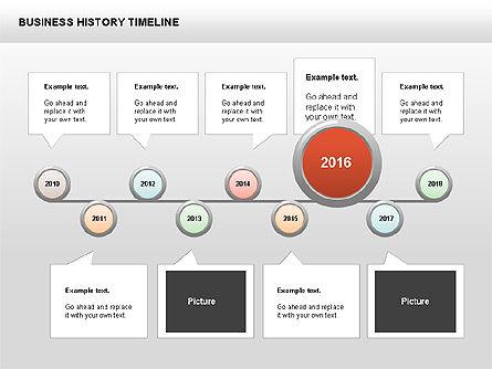 Business History Timeline Diagrams, Slide 8, 00403, Timelines & Calendars — PoweredTemplate.com