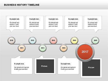 Business History Timeline Diagrams, Slide 9, 00403, Timelines & Calendars — PoweredTemplate.com