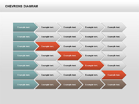 Stage Diagrams: Chevron mit Textfelder Diagramm #00405