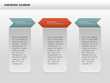 Chevron with Text Boxes Diagram, Slide 11, 00405, Stage Diagrams — PoweredTemplate.com
