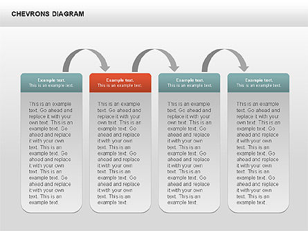 Chevron with Text Boxes Diagram, Slide 12, 00405, Stage Diagrams — PoweredTemplate.com