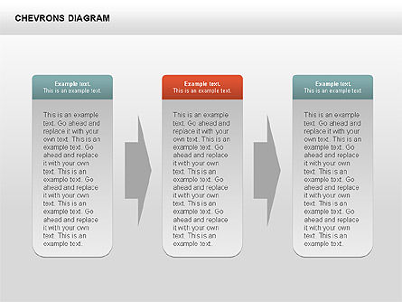 Chevron with Text Boxes Diagram, Slide 13, 00405, Stage Diagrams — PoweredTemplate.com