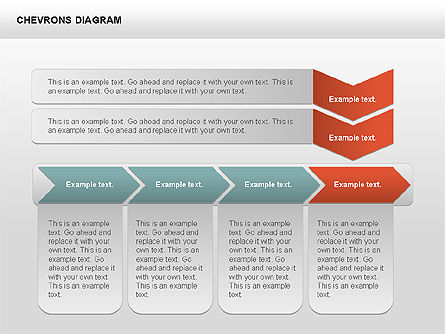 Chevron with Text Boxes Diagram, Slide 5, 00405, Stage Diagrams — PoweredTemplate.com