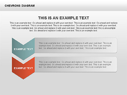 Chevron with Text Boxes Diagram, Slide 6, 00405, Stage Diagrams — PoweredTemplate.com