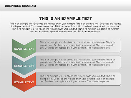 Chevron with Text Boxes Diagram, Slide 7, 00405, Stage Diagrams — PoweredTemplate.com