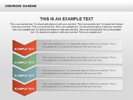 Chevron with Text Boxes Diagram, Slide 8, 00405, Stage Diagrams — PoweredTemplate.com