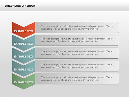 Chevron with Text Boxes Diagram, Slide 9, 00405, Stage Diagrams — PoweredTemplate.com