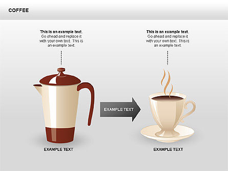 Coffee Shapes and Diagrams, Slide 3, 00407, Shapes — PoweredTemplate.com