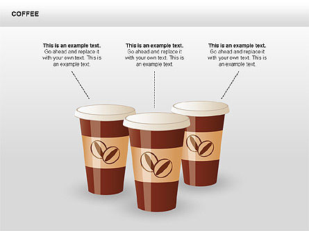 Coffee Shapes and Diagrams, Slide 4, 00407, Shapes — PoweredTemplate.com