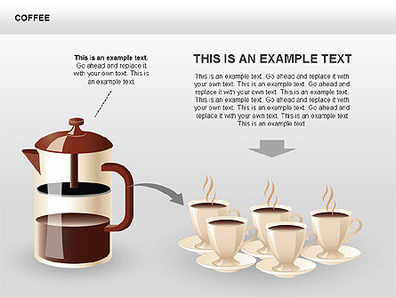 Coffee Shapes and Diagrams for PowerPoint Presentations, Download ...