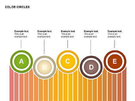 Color Circles Shapes, 00408, Stage Diagrams — PoweredTemplate.com