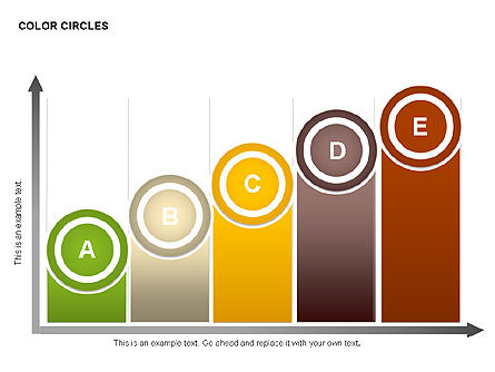 Color Circles Shapes, Slide 10, 00408, Stage Diagrams — PoweredTemplate.com