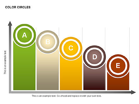 Color Circles Shapes, Slide 11, 00408, Stage Diagrams — PoweredTemplate.com