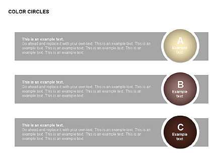 Color Circles Shapes, Slide 13, 00408, Stage Diagrams — PoweredTemplate.com
