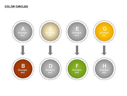 Color Circles Shapes, Slide 14, 00408, Stage Diagrams — PoweredTemplate.com