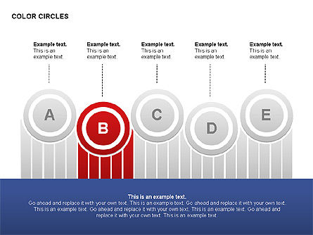 Color Circles Shapes, Slide 3, 00408, Stage Diagrams — PoweredTemplate.com