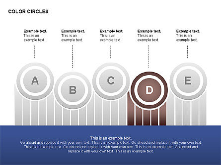 Color Circles Shapes, Slide 5, 00408, Stage Diagrams — PoweredTemplate.com