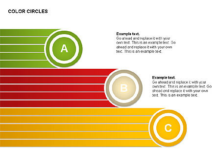 Color Circles Shapes, Slide 7, 00408, Stage Diagrams — PoweredTemplate.com