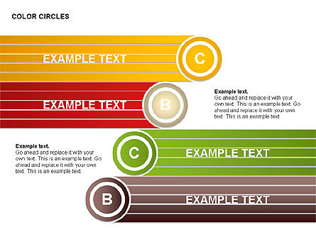 Color Circles Shapes, Slide 8, 00408, Stage Diagrams — PoweredTemplate.com