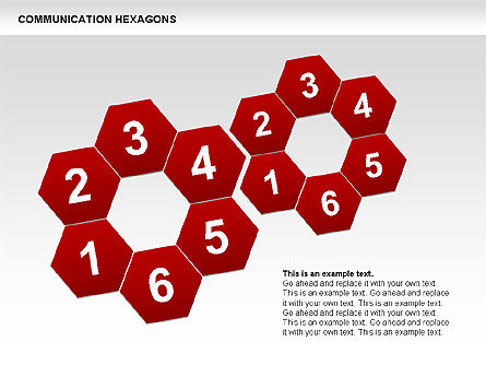 Communication Hexagon Shapes, 00410, Shapes — PoweredTemplate.com