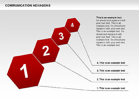 Communication Hexagon Shapes, Slide 10, 00410, Shapes — PoweredTemplate.com