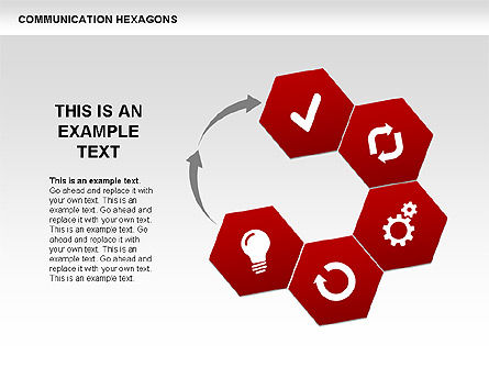 Communication Hexagon Shapes, Slide 11, 00410, Shapes — PoweredTemplate.com