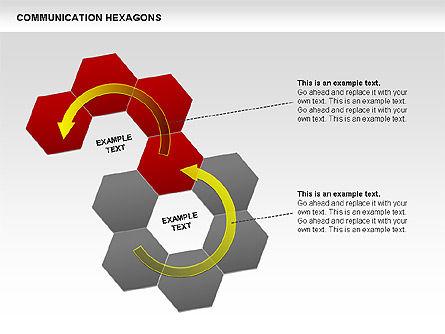 Communication Hexagon Shapes, Slide 5, 00410, Shapes — PoweredTemplate.com