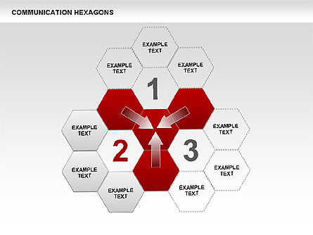 Communication Hexagon Shapes, Slide 7, 00410, Shapes — PoweredTemplate.com