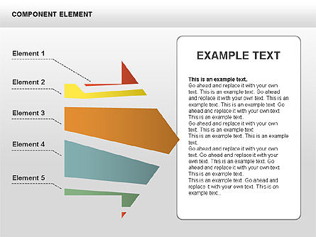 Component Elements Charts and Diagrams, 00411, Shapes — PoweredTemplate.com