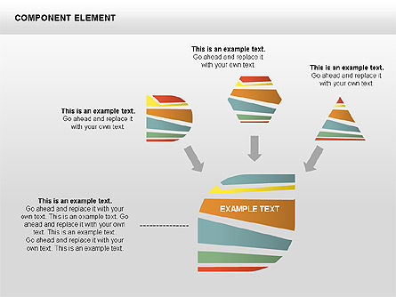 Component Elements Charts and Diagrams, Slide 10, 00411, Shapes — PoweredTemplate.com