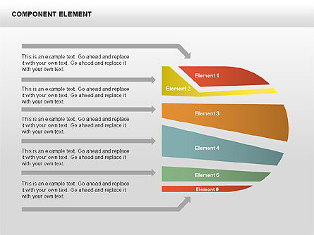 Component Elements Charts and Diagrams, Slide 13, 00411, Shapes — PoweredTemplate.com