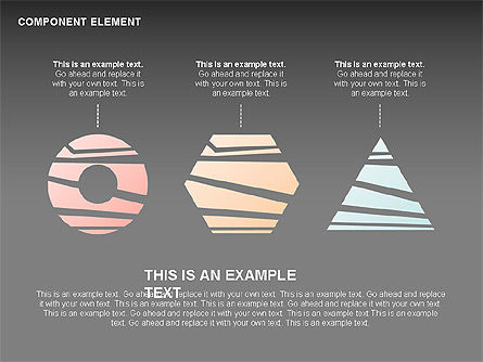 Component Elements Charts and Diagrams, Slide 15, 00411, Shapes — PoweredTemplate.com