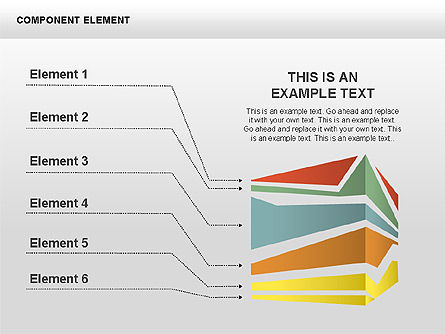 Component Elements Charts and Diagrams, Slide 2, 00411, Shapes — PoweredTemplate.com