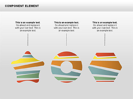 Component Elements Charts and Diagrams, Slide 3, 00411, Shapes — PoweredTemplate.com