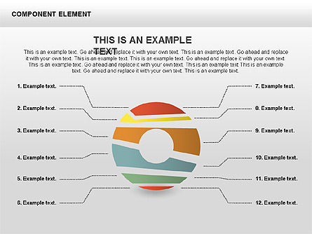 Component Elements Charts and Diagrams, Slide 4, 00411, Shapes — PoweredTemplate.com