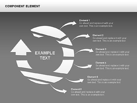 Component Elements Charts and Diagrams, Slide 5, 00411, Shapes — PoweredTemplate.com